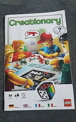 Lego 3844 Creationary Build Game  - Instructions only