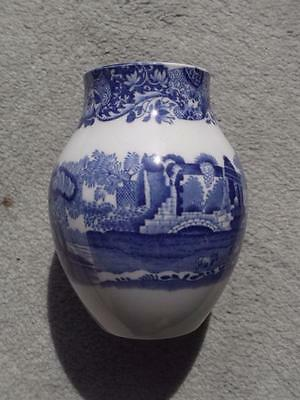 "Copeland Spode Italian Blue Mark 4 1/2"" vase.  PERFECT"