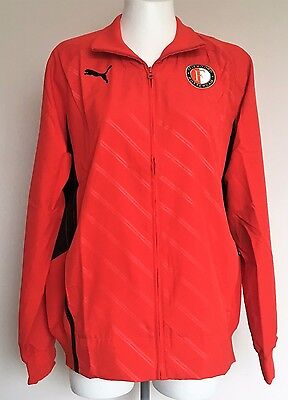 Feyenoord Red Walk Out Jacket By Puma Size Adults Xl Brand New With Tags