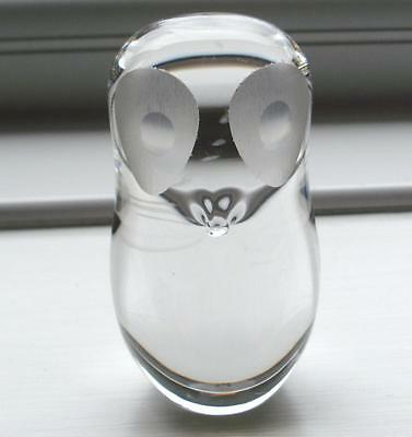 Wedgwood Glass Owl Paperweight