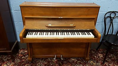 Small, reconditioned, walnut, overstrung piano. Nationwide delivery.