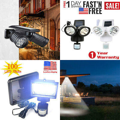 Waterproof Solar Powered Sensor LED Light Security Flood Motion Garden Lamp