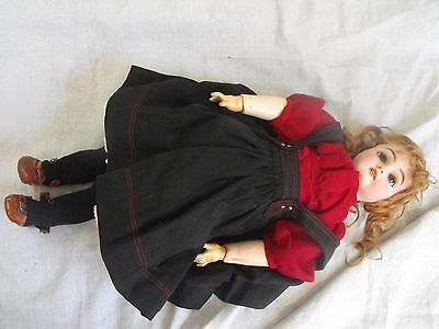 "Antique 19th C. German Heinrich Handwerk 18"" Bisque Girl Doll"