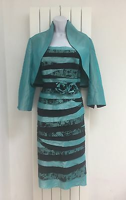 John Charles Dress And Matching Jacket-Size 18