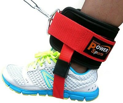 OYSTON Ankle Strap Twin D-Ring Gym Cable Attachment Leg Thigh Pulley Lifting