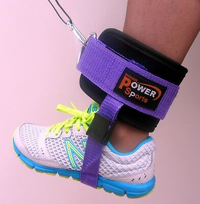 PURPLE OYSTON Ankle/Foot Flex Strap Gym Training Cable Machine Attachment SINGLE