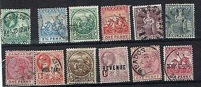 Barbados small mix some higher value older  stamps