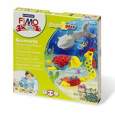 Fimo Kids Under The Sea Form and Play Clay Set - Includes 4 Fimo Kids Clays