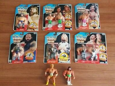 Wrestling Official 6 wwf gig hasbro action figure +2 senza cover