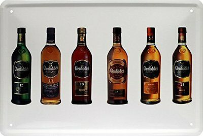 Glenfiddich Bottles Scotch Whisky Whiskey Blechschild