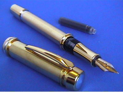 Woodturning Pen Kits GENTLEMAN/CHAIRMAN Gold/Chrome/Fount/Rollerball/or Bushes