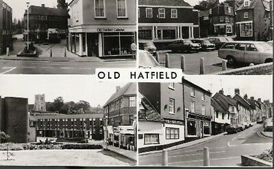 Old Hatfield, Hertfordshire - multiview postcard RP c.1960s (see details)