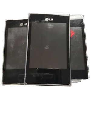 9 Lot LG L35G B Smartphone Locked GSM Camera Wi-Fi Working Good Digitizer Used