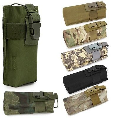 Outdoor Mutifunction Molle Radio Walkie Talkie Pouch Water Bottle Cage Bags Case