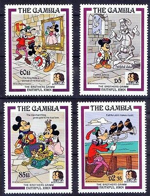 Gambia 1985 MNH 4v, Disney, Cartoons, Faithful John  - NL1