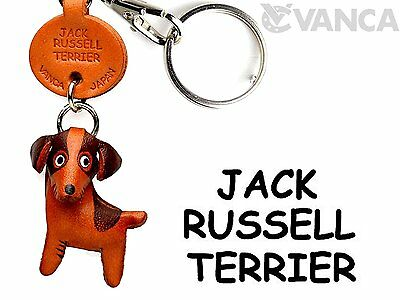 Jack Russell Terrier Leather Dog Small Keychain VANCA CRAFT-Collectible keyring
