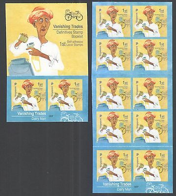 Singapore 2017 Vanishing Trades 1St Local Dairy Man 10Th Reprint (2017K) Booklet