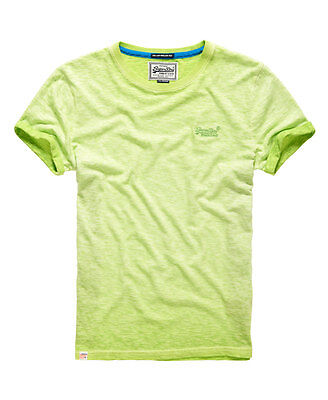 New Mens Superdry Low Roller T-shirt Lime Green