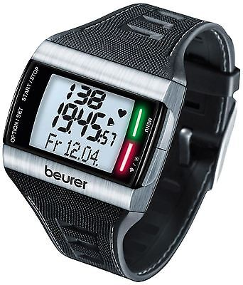 Beurer PM 62 Heart Rate Monitor Sports Watch with Chest Strap & Carry Case