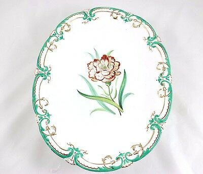 Serving Stand Tazza Antique Staffordshire England Hard Paste China Hand Painted