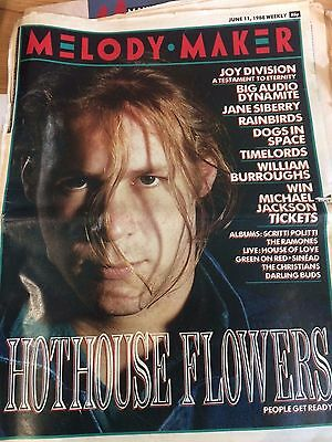 Melody Maker 11.6.88 Hothouse Flowers Joy Division Ramones Christians Scritti Po