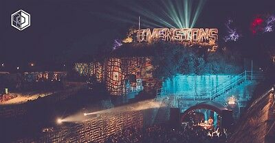Dimensions festival weekend ticket and camping