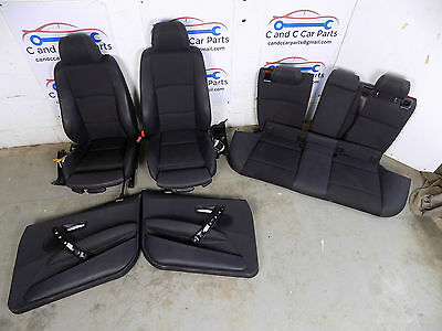 BMW 1 Series E87 Sport Black Half Leather Seats Interior & Front Door Cards 31/5