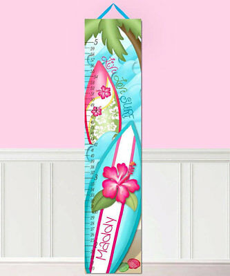 Toad and Lily Hibiscus Girl Surf Persornalized Growth Chart