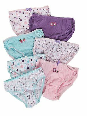 Girls 7 Pack Knickers Briefs Underwear Kids Baby Toddlers Sizes 2-8 Years Lot