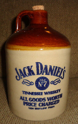 Vintage JACK DANIELS OLD No.7 Tennessee Whiskey Stoneware Crock Jug Bottle U.S.A