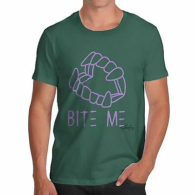Twisted Envy Bite Me Purple Men's Funny T-Shirt