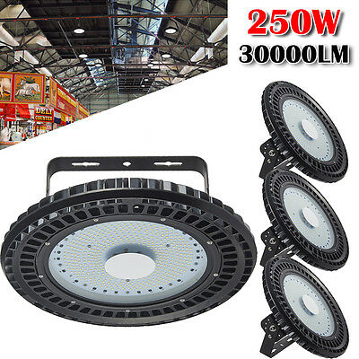 4X 250W UFO LED High Bay Light Gym Factory Warehouse Industrial Shed Lighting