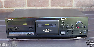 SONY TC-K611S STEREO CASSETTE DECK.DOLBY B-C-S NR HX PRO in Black
