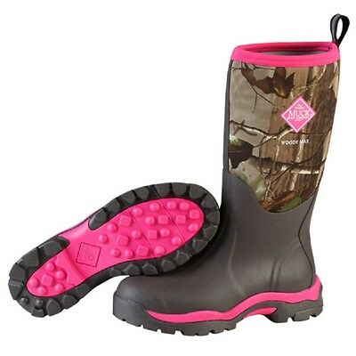 Muck WDW-4RTX Pink RealTree Xtra Woody Max Fleece Hunting Boot WOMEN SIZE 7