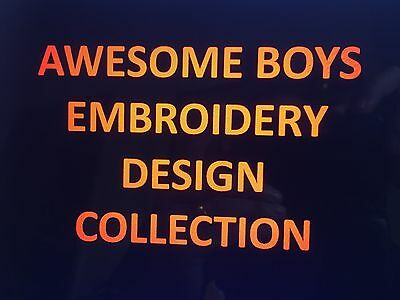 Awesome Boys Embroidery Designs Collection In Pes/jef/hus Or Vp3 On Cd