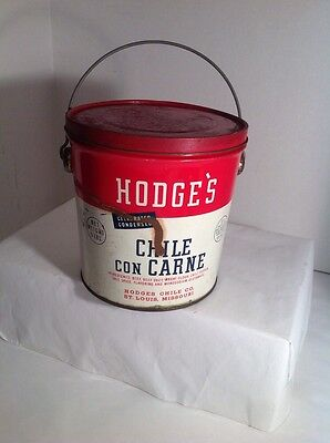 ANTIQUE Vintage Chile Hodge's Can Pale Bucket empty can