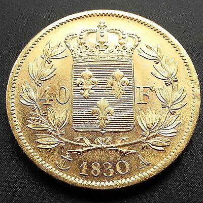 Charles X - 40 francs or 1830 A sup