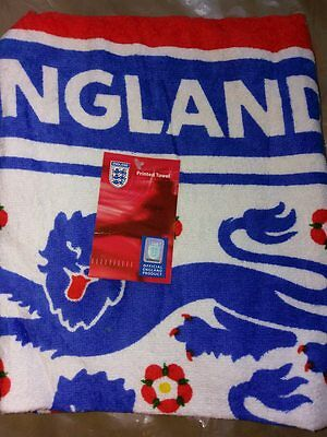 Official England Football 100% Cotton Towel with tag.