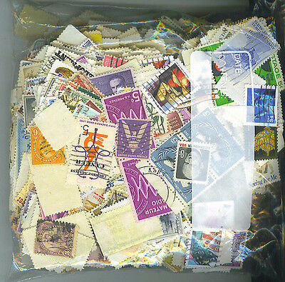 1000 Mixed Usa Stamps Off Paper, Free Shipping