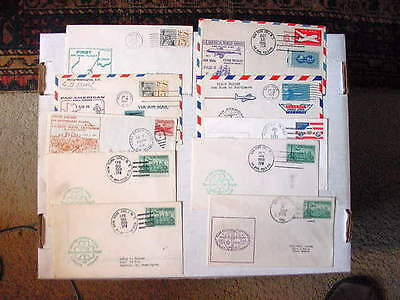 US Air Mail First Flight & Events LOT OF (10) 1951-1978 Classic Covers Fine/VF!