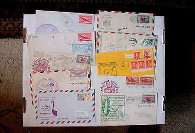 Classic US Covers! 1930-1970 US Air Mail First Flights ~ Group Of (10)