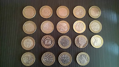 £2 coin collection 19 different coins
