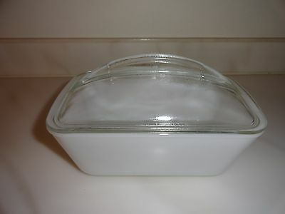 Vintage Westinghouse Glass Bread/Meat Loaf Refrigerator Pan W/Clear Domed Lid