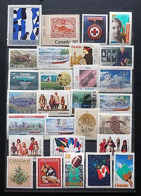 CANADA 1980-92 LOT of 28 DIFFERENT MINT COMMEMORATIVES stamps unused MNH Lot 101