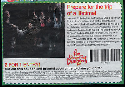 Blackpool Tower Dungeon Free Child With Full Priced Adult. Valid Until End Dec