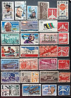 USA United States Lot of 30 different  USED  AIRMAIL  stamps America  Lot #99