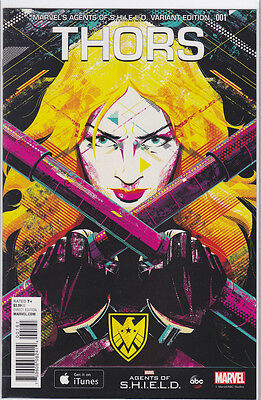 THORS #1 Agents of SHIELD 1:15 Retailer incentive variant. RARE