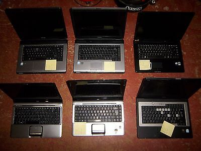 Joblot of 6 Laptops, Dell/Toshiba/Hp/Advent - Working order