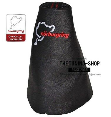 For Renault Clio Mk3 05-13 Gear Gaiter Black Leather Nurburgring Embroidery