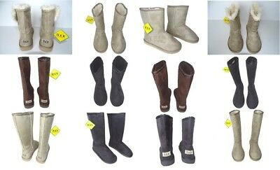 Classic Boots Australia Womens Faux Sheepskin Suede Boots Multicolored & Style